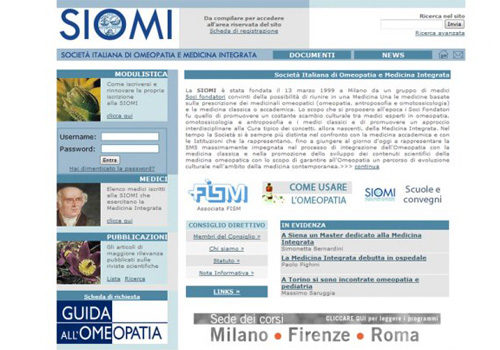 Portfolio Starfarm Internet Communications srl - Società Italiana di Omeopatia e Medicina Integrata