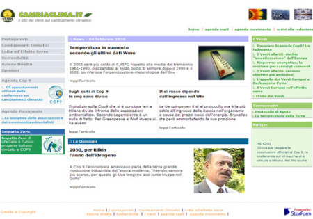 Portfolio Starfarm Internet Communications srl - Cambiaclima