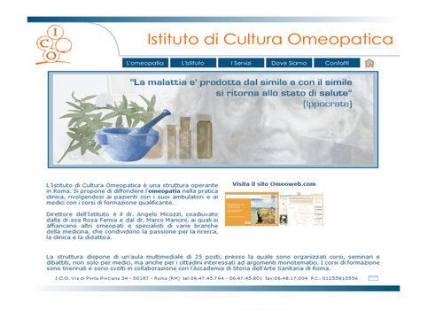 Portfolio Starfarm Internet Communications srl - Istituto di Cultura Omeopatica