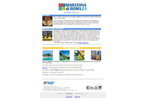 Portfolio Starfarm Internet Communications srl - Newsletter Maratona di Roma