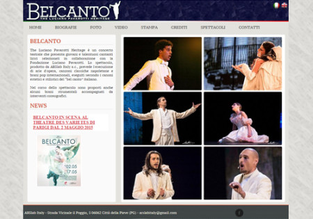 Portfolio Starfarm Internet Communications srl - Belcanto - The Luciano Pavarotti Heritage