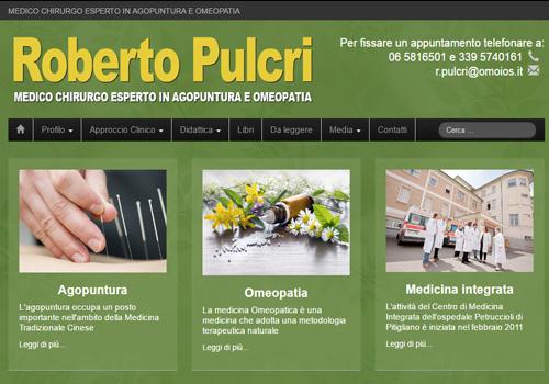 Home Page del sito www.robertopulcri.it